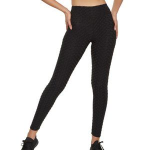 Rainbow Women's Ruched Back Textured Knit Leggings